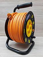 Удлинитель на катушке 40м SVITTEX ПВС 2х1,5 на 4 розетки с термозащитой