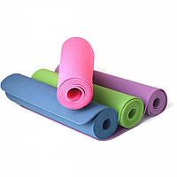 Коврик для йоги и фитнеса TPE спортивный каремат для тренировок и для занятий спортом | Килимок для йоги та