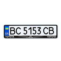 Рамка номера CarLife для Toyota чорний пластик (NH192)