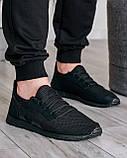 Летние мужские кроссовки сетка черные (ПР-3302ч), фото 6