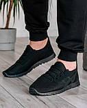 40 Розмір!!! Літні чоловічі кросівки сітка чорні (ПР-3302ч), фото 2
