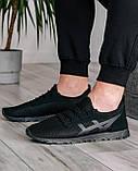 40 Розмір!!! Літні чоловічі кросівки сітка чорні (ПР-3302ч), фото 3