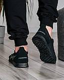 Летние мужские кроссовки сетка черные (ПР-3302ч), фото 4