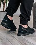 Летние мужские кроссовки сетка черные (ПР-3302ч), фото 5