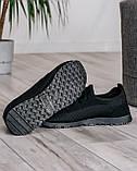 40 Розмір!!! Літні чоловічі кросівки сітка чорні (ПР-3302ч), фото 7