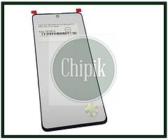 Скло для переклеювання дисплея Samsung N770, Galaxy Note 10 Lite, Чорне