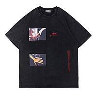 Чёрная футболка ACW (с принтом мужская женская)