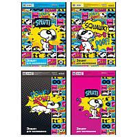 Альбом для рисования Kite Snoopy 30л на спирали микс 4 диз (SN21-243)