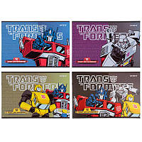 Альбом для рисования Kite Transformers 12л скоба микс 4 диз (TF21-241)