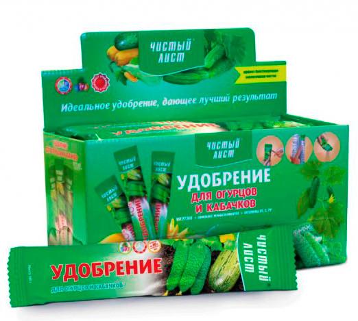 Удобрение Чистый Лист для огурцов и кабачков 100 г