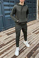 Спортивный костюм мужской весенний осенний демисезонный худи и штаны хаки