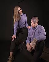 Толстовки худи весенние парные кофты регланы женские и мужские лавандовый