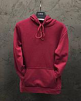 Толстовки худи мужские и женские парные кофты регланы весенние осенние бордовый