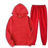 Спортивные костюмы женские и мужские оверсайз весенние парные кофты и штаны красные