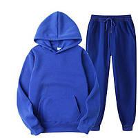 Спортивные костюмы женские и мужские оверсайз весенние парные кофты и штаны синий