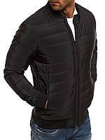 Куртка бомбер мужская весенняя осенняя демисезонная ветровка черная