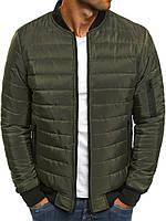 Куртка бомбер мужская весенняя осенняя демисезонная ветровка хаки