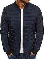 Куртка бомбер мужская весенняя осенняя демисезонная ветровка темно синий