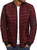 Куртка бомбер мужская весенняя осенняя демисезонная ветровка бордовый