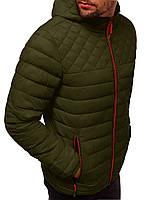 Куртка мужская весенняя осенняя ветровка с капюшоном демисезонная хаки