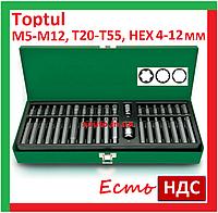 Toptul GAAD4002. 40 предметов. Набор бит, Torx, Hex, Spline, шестигранных