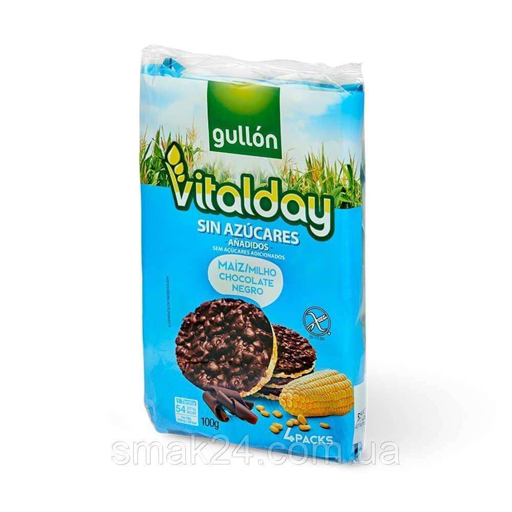 Хлебцы без сахара и глютена с кукурузой и шоколадом Vitalday Gullon  Испания 100г  ( (4х25г)