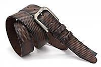 Мужской кожаный классический ремень для брюк 35 мм Кремень Украина
