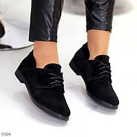 Дизайнерські чорні жіночі туфлі з натуральної замші весна 2021