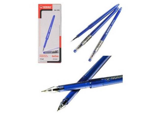 "Ручка Norma Gelios гелева 0,5 мм. син. ""Пір'їнка"" 342 (12/288/1728), фото 2"