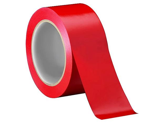 Стрічка клеєння 150м*48мм/45мкм /колір червоний Contur 012906, фото 2