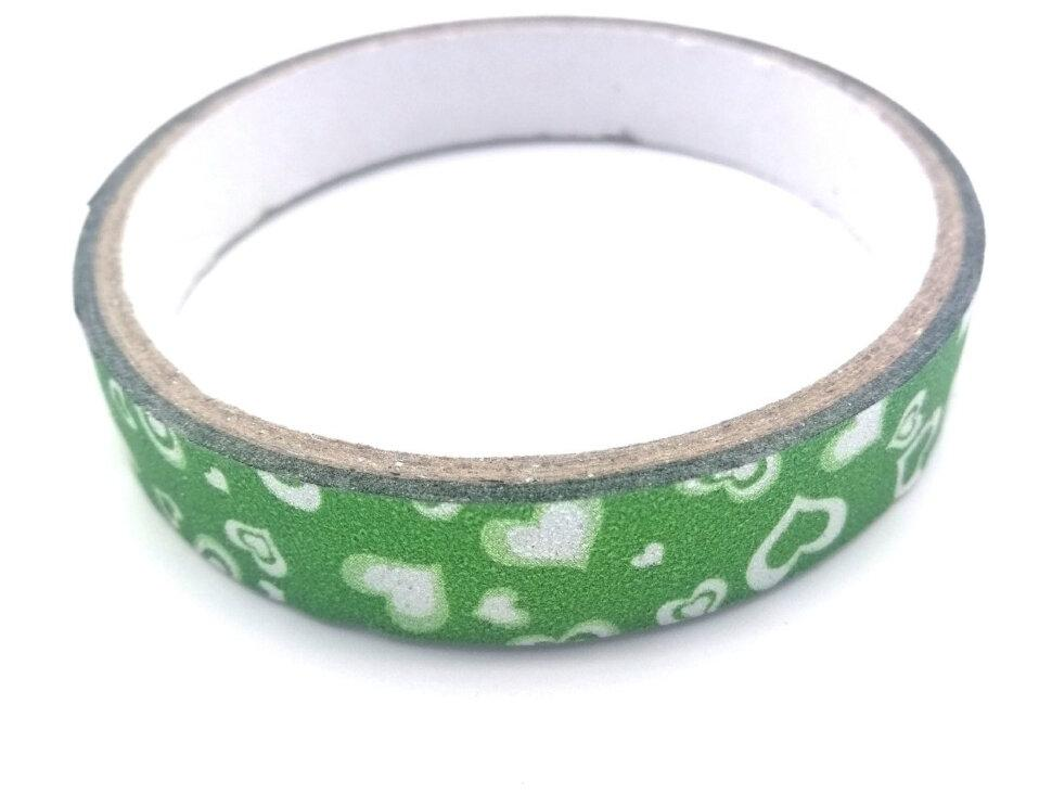Стрічка клейка декор. 4,8м*1,5см/397223 /колір металік 011006 (Зелёная)