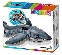Надувной плотик Белая Акула Интекс Intex 57525 , Размер 173 х 107 см