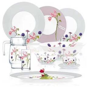 Столовий сервіз з квітами Luminarc Rozana Trefle 46 предметів (N2171), фото 2