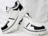 Демисезонные кроссовки из Pu-кожи белые. Размеры 35, 36, 37, 38, 39, 40. Violeta 11265.