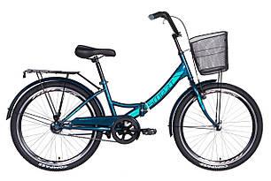 "Велосипед 24"" Formula SMART з кошиком 2021 (малахітовий)"