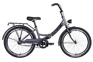 """Велосипед 24"""" Formula SMART з ліхтарем 2021 (сіро-чорний)"""