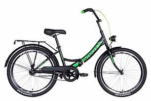 """Велосипед 24"""" Formula SMART з ліхтарем 2021 (чорно-зелений (м))"""