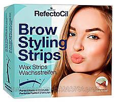 Восковые полоски для коррекции бровей RefectoCil Brow Styling Strips 60 шт (RefectoCil31)