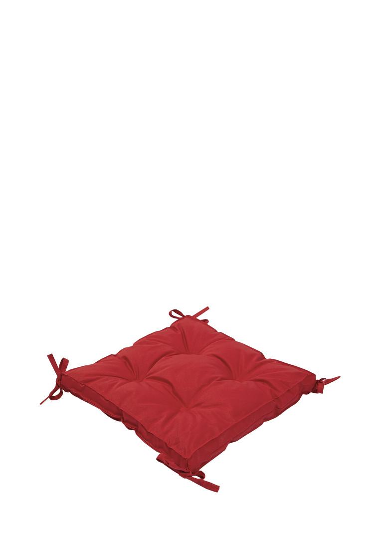 Подушка на стул Lotus 40*40*5 - Optima с завязками красный