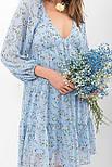 Платье из шифона в цветочный принт Хельга д/р, фото 3