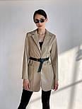 Піджак жіночий модний з поясом, фото 3