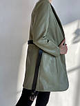 Піджак жіночий модний з поясом, фото 4