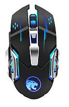 Миша бездротова USB TRY Game Mouse G8 1600 dpi c подсв. вбуд. акб сіра нова