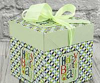 Коробка для упаковки подарков складная (10,5*10,5*10,5 см)