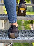 Adidas Yeezy Boost 350 Cinder (коричневые) (Reflect), фото 5