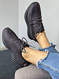 Adidas Yeezy Boost 350 Black (черные) (Full Ref), фото 7