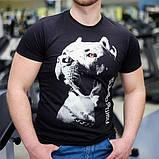 "Мужская светящаяся футболка ""Питбуль"" размер XL, фото 2"