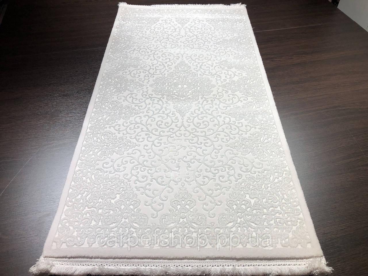 80х150 килим білий акрил