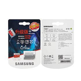 Карта пам'яті microSD Samsung Plus EVO 64GB 100/20MB/s Оригінал