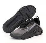 Чоловічі кросівки Air Max 270 React сірі з чорним весна-осінь демісезонні. Живе фото. репліка, фото 2